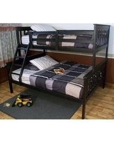 Swainsboro Solid Wood Bunk Bed by Zoomie Kids Wood in Black, Size 63.0 H x 59.0 W x 79.0 D in   Wayfair 22F92DB22A364882AD0A7092F9A40039
