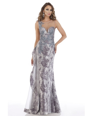 Feriani Couture - 18904 Illusion Plunging Neck Mermaid Evening Gown