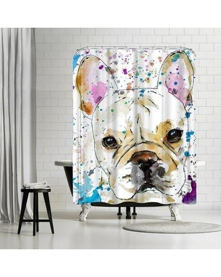 Amazing Deal On East Urban Home Allison Gray French Bulldog Shower