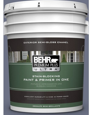BEHR ULTRA 5 gal. #MQ5-11 Encore Semi-Gloss Enamel Exterior Paint and Primer in One