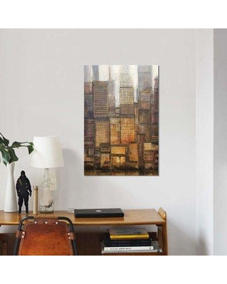 """East Urban Home 'Uptown City II' Print on Canvas EBHS9413 Size: 18"""" H x 12"""" W x 0.75"""" D"""
