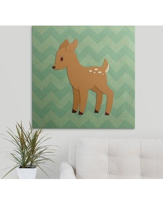 "Great Big Canvas 'Deer - Woodland Creatures' Graphic Art Print 2398918_1 Size: 30"" H x 30"" W x 1.5"" D Format: Canvas"
