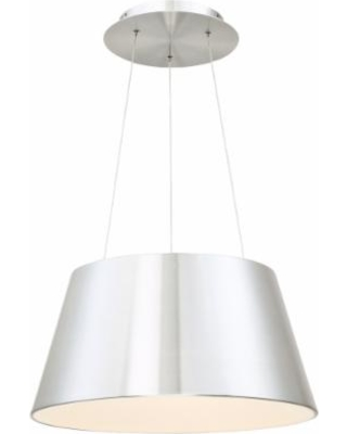 "dweLED Vida 18"" Wide Brushed Aluminum LED Pendant Light"