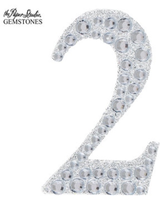 """NUMBER 4 2/"""" 5cm Large Craft Diamante /& Silver Glitter Stick On Self Adhesive"""