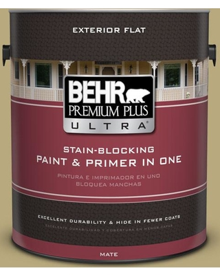 BEHR Premium Plus Ultra 1 gal. #M330-5 Fresh Brew Flat Exterior Paint and Primer in One