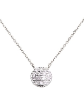 Women's Dana Rebecca Designs 'Lauren Joy' Diamond Disc Pendant Necklace