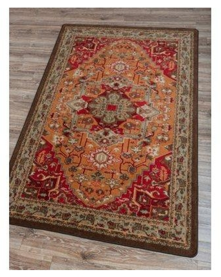 World Menagerie Woodview Persia Glow Orange/Brown Area Rug RC0231GLW2 Rug Size: Rectangle 5' x 8'