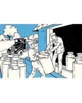 "Buyenlarge 'Loading The Milk Cans' by Margaret Hoopes Painting Print 0-587-31569-5 Size: 24"" H x 36"" W x 1.5'' D"