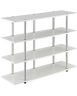 Convenience Concepts Designs2Go XL Highboy 4-Tier TV Stand, White