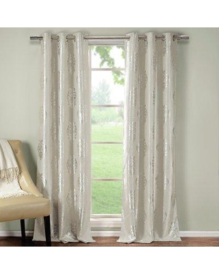 New Deal On Dr International Hastings Damask Blackout Thermal Grommet Curtain Panels Curtain In Taupe Size 84 H X 36 W Wayfair Hastings 10083 12