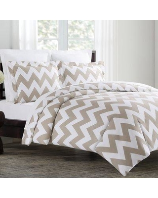 Wrought Studio Monk Duvet Cover Set W001242306 Size: Full / Queen Color: Taupe