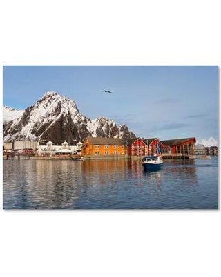 """Trademark Art 'Svolvaer' Photographic Print on Canvas on Wrapped Canvas PSL0575-C Size: 16"""" H x 24"""" W x 2"""" D"""