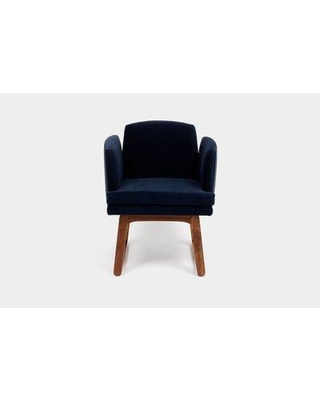 ARTLESS Allison Sled Base Upholstered Dining Chair A-A-2- Upholstery Color: Deep Blue