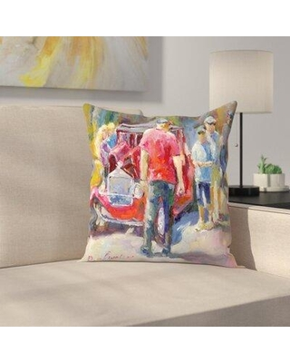 Can T Miss Deals On East Urban Home Golden Hotrods Throw Pillow Polyester Polyfill Synthetic In Red Size 18x18 14 Below 12x18 18x24 16x16 20x20 14x20 Wayfair