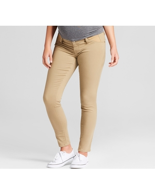 Maternity Inset Panel Skinny Jeans - Isabel Maternity by Ingrid & Isabel Tan 4, Women's, Beige