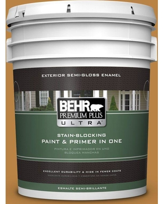 BEHR Premium Plus Ultra 5 gal. #M270-7 Wild Ginger Semi-Gloss Enamel Exterior Paint and Primer in One