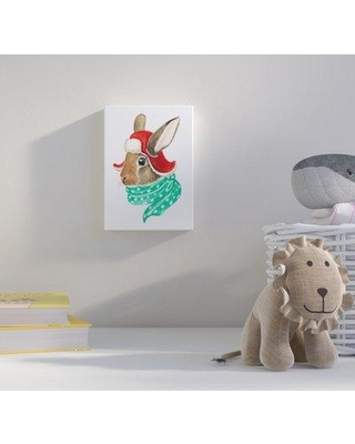 """Harriet Bee 'Cozy Rabbit' Acrylic Painting Print HBEE4153 Size: 24"""" H x 18"""" W Format: Canvas"""