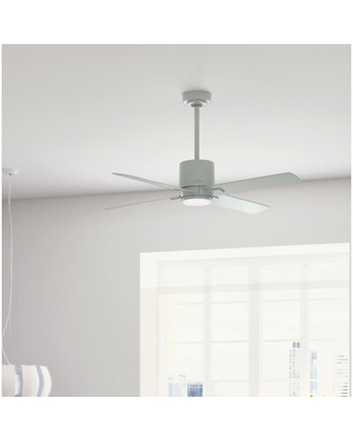 """52"""" Visalia 4 - Blade LED Standard Ceiling Fan with Remote Control and Light Kit Included"""