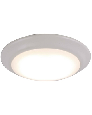 Rockies Containers 7.25 in. 1-Light Matte White LED Flush Mount