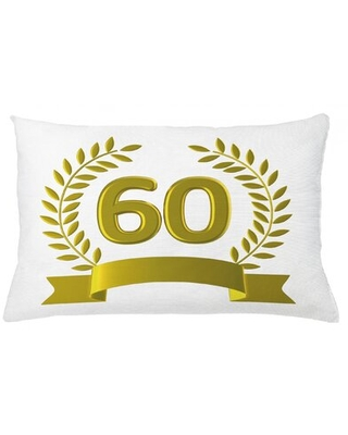 """60Th Birthday Indoor / Outdoor Lumbar Pillow Cover East Urban Home Size: 16"""" x 26"""""""
