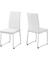 Dining Chair - 2 Piece - White Leather - EveryRoom