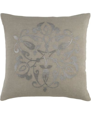 """Darby Home Co Burdette Throw Pillow DBHC5176 Color: Gray/Light Gray Size: 22"""" H x 22"""" W x 4"""" D"""