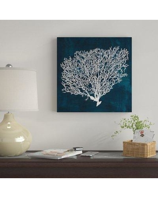 """East Urban Home 'Inverse Sea Fan II' Graphic Art Print on Canvas EBHS9545 Size: 37"""" H x 37"""" W x 0.75"""" D"""