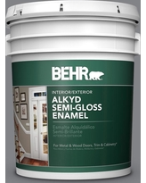 Deals On Behr 1 Gal Ae 52 Rising Smoke Urethane Alkyd Semi Gloss Enamel Interior Exterior Paint