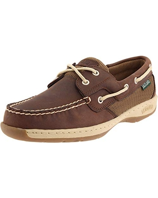 Eastland womens Solstice flats shoes, Bomber Brown, 7.5 Wide US