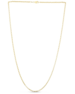"""Jared The Galleria Of Jewelry Rolo Chain Necklace 14K Yellow Gold 20"""""""