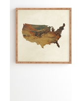 """Chelsea Victoria Wild Wild West States Framed Wall Art 20"""" x 20"""" - Deny Designs, Multicolored"""