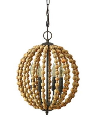 Bee & Willow™ Home 4-Light Downrod Mount Chandelier in Natural