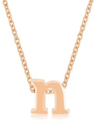 Rose Gold Finish Initial A to Z Pendant (N)