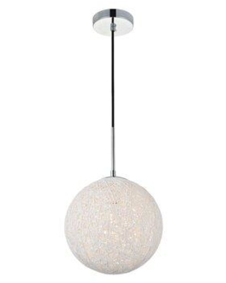 "George Oliver Alfonso 1 - Light Single Globe Pendant Finish: Chrome, in Chrome/Brass/Black, Size 10.8"" H x 9.8"" W x 9.8"" D 
