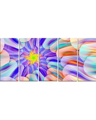 Design Art 'Multi-Colored Stain Glass with Spirals' Graphic Art Print Multi-Piece Image on Canvas PT15552-401