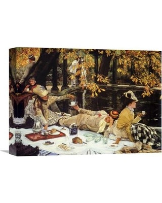 Global Gallery 'The Picnic' by James Tissot Painting Print on Wrapped Canvas GCS-374480-16-142
