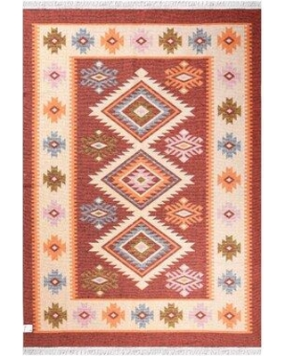 Loon Peak Joey Beautifully Pattern High Quality Red Area Rug W001655445