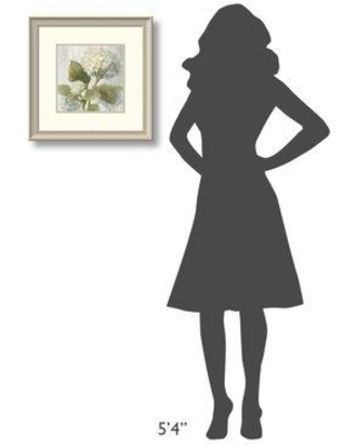 "East Urban Home 'Scented Cottage Florals IV Crop' Print ESUN1529 Size: 19.25"" H x 19.25"" W Format: White Framed"