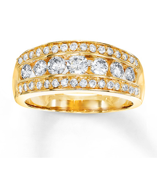 Diamond Ring 1 carat tw Round-cut 14K Yellow Gold