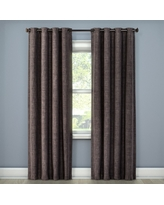"Rowland Light Blocking Curtain Panel Charcoal (Grey) (52""x84"") - Eclipse"