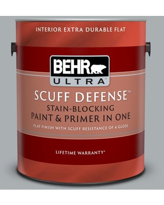 BEHR ULTRA 1 gal. #N500-3 Tin Foil Extra Durable Flat Interior Paint & Primer