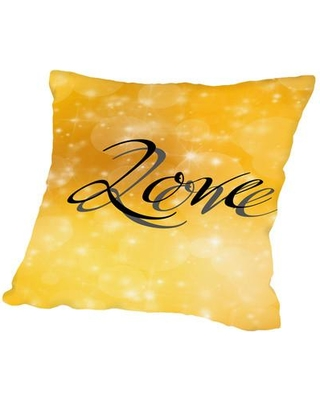 "East Urban Home Design Of Love Valentine Throw Pillow, Cotton/Polyester/Polyfill in Black, Size 20"" H x 20"" W x 2"" D 