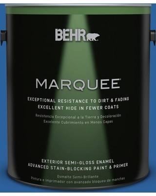 BEHR MARQUEE 1 gal. #570B-7 Cobalt Glaze Semi-Gloss Enamel Exterior Paint and Primer in One