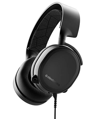 SteelSeries Arctis 3 Console - Stereo Wired Gaming Headset - for PlayStation 4, Xbox One, Nintendo Switch, VR, Android and iOS - Black [2019 Edition]