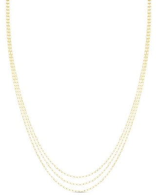 Jared The Galleria Of Jewelry Forzentina Chain Choker Necklace 14K Yellow Gold