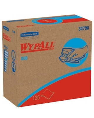 WypAll X60 HYDROKNIT Wipers, White, 126 Wipes/Pack, 10 Packs/Carton (34790) | Quill