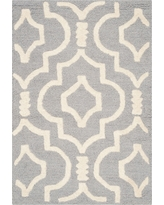 Tahla Accent Rug - Silver / Ivory ( 3' X 5' ) - Safavieh, Silver/Ivory