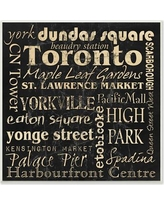 """Stupell Industries 'Distressed Classic Toronto' Textual Art Wall Plaque WCP-116_wd_12x12 Size: 12"""" H x 12"""" W, Format: Plaque"""