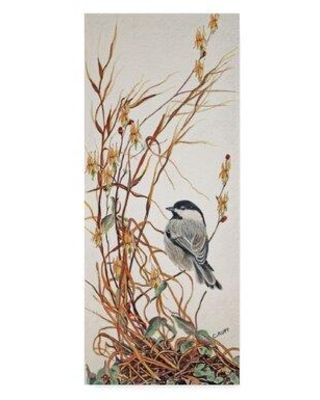 """Charlton Home 'Chickadee in Summer Grass' Acrylic Painting Print on Wrapped Canvas CRHM1096 Size: 47"""" H x 20"""" W x 2"""" D"""