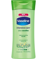 Vaseline Intensive Care Body Lotion Aloe Soothe 10 oz